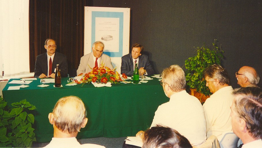Opening ceremony of the 1st congress of CMS, prof. Vranković, prof. Alfirević, prof. Sorić